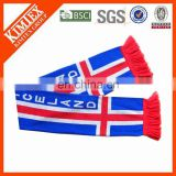 Embroidery Jacquard Stripe Pattern Style knitted scarf