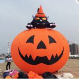 Outdoor giant decorations advertising halloween inflatable pumpkin models