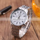 Wholesale factory stainless steel watch silver quartz watch