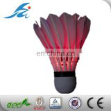 hot selling novelty items led badminton led shuttlecock with turn on and off switch using for more time
