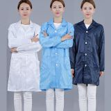 Electronic factory work clothes anti-static clothing stripe white lab coat food factory clean clothing workshop dustproof clothing