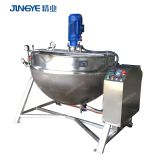 100 liter Peanut Butter Industrial Steam Heating Jacketed Kettle Cooking Pot with Mixer Jacketed Kettle