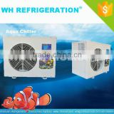 WH REFRIGERATION EQUIPMENT 1HP Small Seawater Cooled Aquarium Heating Cooling Water Chiller Unit Price