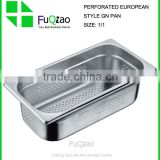 1/1 Hotel supplies stainless steel perforated food warmer container,perforated pan                                                                         Quality Choice