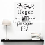 Removable wall stickers with beautiful Letter and simple style for living room and class room