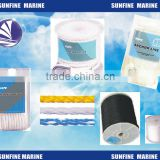 Nylon 3 strand anchor line with thimble/nylon double braid dock line pre-spliced/ hollow braid polypropylene anchor line