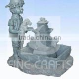 Polyresin boy outdoor water fountain