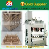 Production line of wood pallet making machine from wood sawdust and shavings pallet tray molding machines