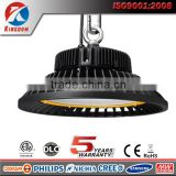 Indoor badminton court lighting 120w 150w ETL CE FCC IP65 Elegant White UFO Led high bay light 200w