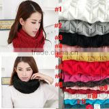 Winter Knitted Chevron Women Round Neck Loop Circle Scarf