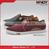 China shoe factory cheap price men's slip-on fabric shoes