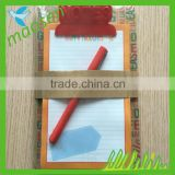 Clipboard with memo pad and pen, notepad, paper clipboard