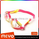 Custom wide view swimming goggle anti fog swim eyewear glasses