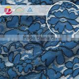 wholesale blue cord lace fabric 5 yard for underwear making machine with high quality 2016