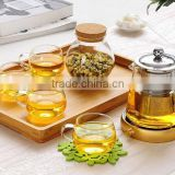 Hot sale 450ml,550ml,750ml,950ml Heat Resistant Glass Tea Pot Flower Tea Set Puer kettle Coffee Teapot Convenient Office Teaset