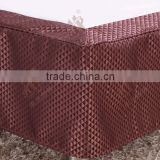 Elegant coffee triangle pattern fabric bed skirt for home use & star hotel bed decoration