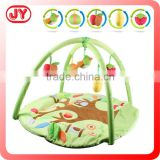 Soft plush activity gym baby forest carpet mat