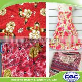 china viscose factories spun rayon printed fabric for sarong beach wear