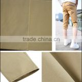 Twill 3/1 Dyeing 100% Cotton Drill Khaki Casual pants Fabric