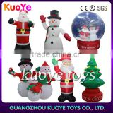 Inflatable Christmas series, festival inflatable santa Claus& tree &Snowman family& Snow Globe Santa Claus,