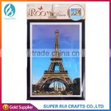 Popular 5D eiffel tower wall sticker for home decoration