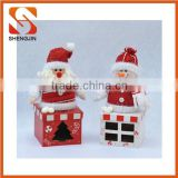 SJ-6659 Factory sale Christmas Candy Box santa snowman decoration Christmas Gift Box Candy Gifts
