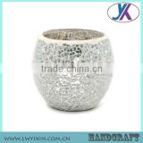 Mosaic clear glass candle holder with lid                                                                                                         Supplier's Choice