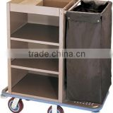 Metal Housekeeping Cart/Service Trolley for Hotels/maid cart/laundry cart/linen cart