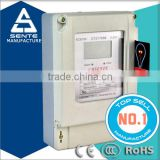 Three phase electric kwh prepaid electricity meter smart card remote for electric meter stop