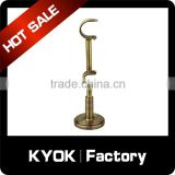 KYOK aluminum iron curtain rod brackets,top quality curtain bracket curtain socket brass,European style double curtain brackets