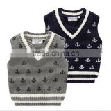 2016 European and American style children boy sweater vest clothes