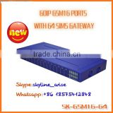 functional anti-blocking 16 channel sim server/ sim bank/ gsm voip gateway asterisk voip gsm gateway