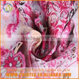 Single jersey dress custom digital flower design polyester chiffon printed fabric                                                                         Quality Choice
