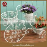 2015 outdoor decorative wrought iron bicycle modeling plant stand                                                                         Quality Choice
