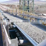 Polyester abrassion resistant rubber conveyor belt with small elongation and ozone/ultraviolet radiation