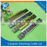 custom design printable price tags and badges of metal holder with adhesive sticker for display