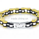 Wholesale pure handmade stainless steel women's biker jewelry ,motorcycle chain bracelet