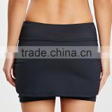 With short under latest design customizied for yoga and sport ladies short skirt designs