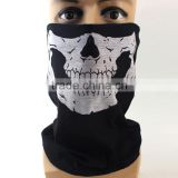 Custom Printed Halloween Black Skull Face Tube Mask Bandana                                                                         Quality Choice