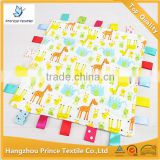 Lovely Giraffe Cotton Print Mini Rag Blanket Baby Tag Blanket                                                                         Quality Choice