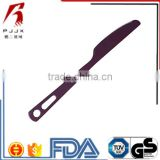 Purple Anodized Titanium metal stainless Dinner Cutlery Tableware Outdoor Picnic folding knife