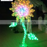 Flower shaped motif light christmas decoration outdoor sunflower shaped led light motif light                                                                                                         Supplier's Choice