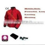 Rechargeable battery heated hockey jerseys / electric heating jacket / motorbike racing suits