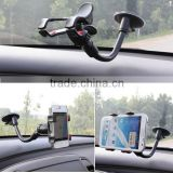Car Windshield Suction Cup Mount Rotating Stand gooseneck universal car holder For Phones GPS