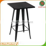 Black Powder Coating Outdoor Metal dining table