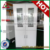 Half glass swing door stainless steel office filing cabinet/cupboard display furniture top selling product