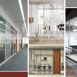 High quality executive office partition office wall partitions / clear glass partition wall / glass partition / aluminum