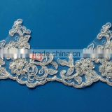 Fancy Bridal Lace Trim Wholesale,Bridal Veil Embroidered Lace Trim SBL62137CB
