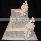 Diamond Mesh Wrap Roll Rhinestone Ribbon Wedding Cake Decor