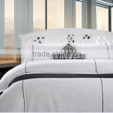 plain white 100% cotton bed sheet/wholesale 4Pcs Spring&Summer Bedding Set